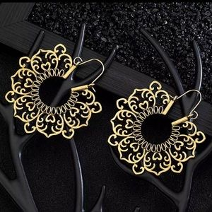 Gold Intricate Mandala Earrings
